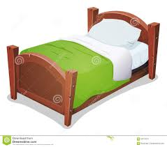 kids bed clipart. Exellent Clipart Wood Bed With Green Blanket Throughout Kids Clipart