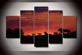 african sunset wall art