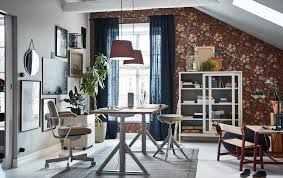 ikea home office. The IKEA IDÅSEN Beige Sit Stand Work Desk, Drawer Unit And Glass Storage  Cabinet Are Ikea Home Office
