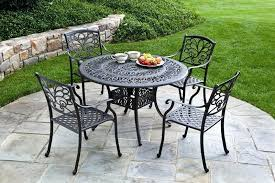wrought iron outdoor dining chairs metal patio furniture pertaining to metal patio table metal cast