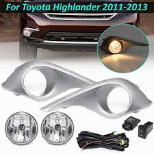 2011 Highlander Fog Light Bulb Us 34 56 36 Off 2pcs Car Fog Light For Toyota Highlander 2011 2012 2013 Cover Frame Kit Front Bumper Fog Lamp Driving Light With Switch Bulb In Car