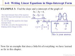 william james calhoun 2001 6 4 writing linear equations in slope