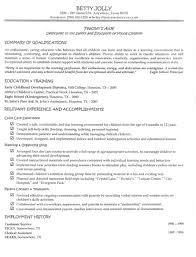 Preschool Teacher Resume Samples Free Resume Cover Letter Example