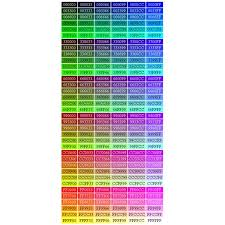 True Color Chart Do Web Designers Still Need To Worry About Using Web Safe