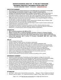 cover letter Business Process Analyst Resume Sample Best Format Banking  Management Summary Business Businesssample of business ...