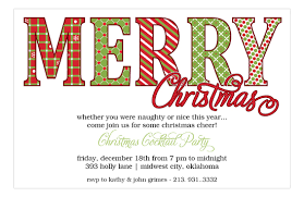 holiday invitations merry christmas pattern words holiday invitations polka dot design