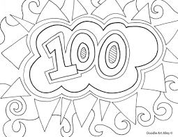 Small Picture Coloring Page 100th Day Coloring Pages Coloring Page and