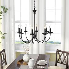 newton 8 light candle style chandelier