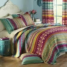 lodge aztec stripe bedding
