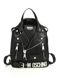 Jacket Backpack Moschino Moto Jacket Leather Backpack In Metallic Lyst