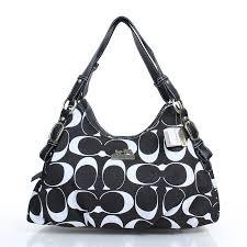 Coach Fashion Signature Medium Black Shoulder Bags DZJ