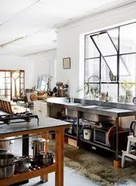 modern kitchen industrial freestanding kitchen google search