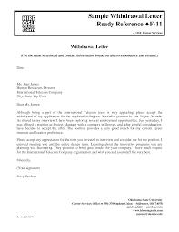 Letter of Withdrawal Sample Letter of Withdrawal Cover Letter For Residency  sample cover letter rn residency program my document blog sample cover  letter