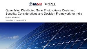 Quantifying Distributed Solar Photovoltaics Costs and Benefits:  Considerations and Decision Framework for India