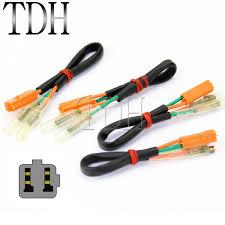 4pcs oem turn signal wiring harness connectors adapter plug for 4pcs oem turn signal wiring harness connectors adapter plug for kawasaki z125 z250 z300 z650 z900