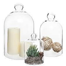 Decorative Clear Glass Jars With Lids Amazon Set of 100 Decorative Clear Glass Apothecary Cloche Bell 75
