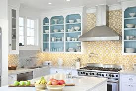wallpaper in kitchen yellow pattern wallpaper in the kitchen kitchen wallpaper borders coffee