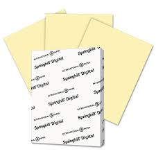 Digital Index Color Card Stock 110 Lb 8 1 2 X 11 Canary 250