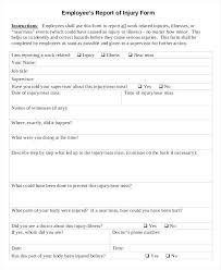 Disciplinary Forms For Employees Free Employees Report Of Injury Write Up Form Employee Disciplinary