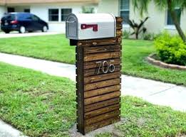 creative mailbox post. Simple Creative Creative Unique Mailbox Posts Post Ideas Photo 1 For And U Inside A