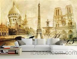 artwork for office walls. 3D Retro Paris Tower Wall Paper Wallpaper Decals Art Print Mural Home Decor Indoor Artwork For Office Walls