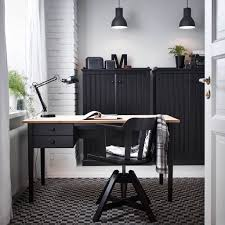 desk tables home office. home office design with arkelstorp desk and sideboard in black wood feodor swivel tables