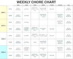 Home Chores Schedule Template
