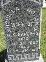 Priscilla Workman Parsons (1849-1893) - Find A Grave Memorial