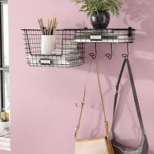 Wall Coat Rack With Baskets Coat Rack With Basket Wayfair 59