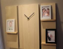 large modern wall clock wooden 3 piece
