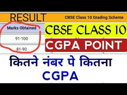 cbse 10th result grade calculation