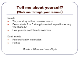 Interview Skills Workshop Objectives Typical Interview Structure Fascinating Walk Me Through Your Resume