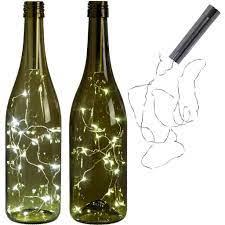 Đèn LED hỗ trợ trang trí chai rượu cho tiệc Giáng Sinh | Đèn trang trí