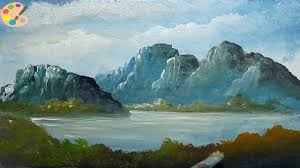 how to draw beautiful mountain lake acrylic landscape painting lesson learn s for kids