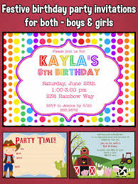 8th Birthday Party Invitations Happy Birthday Invitations For Kids Party On The App Store
