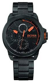 hugo boss orange mens black ip black watch 1513157 hugo boss orange 1513157