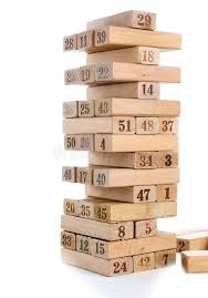 Wooden Brick Game Blocks Of Game Jenga On White Background Vertical Tower Whole And 68