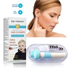 Light Up Ear Cleaner Details About Ear Vacuum Cleaner Electric Suction Wax Removal Kit Tool Easy Pick With Light