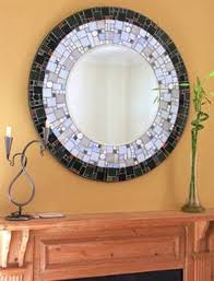 Make a Mosaic Mirror .