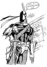 Small Picture Deathstroke Coloring Pages Sketch Coloring Page Coloring Home