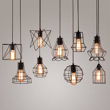 caged lighting. vintage industrial metal cage pendant light hanging lamp edison bulb lighting fixture new loft lamps caged l