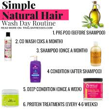 simple natural hair wash day routine