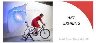bike generator systems human powered art exhibit