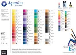 Fw Inks Colour Chart Aquafine Watercolour Daler Rowney