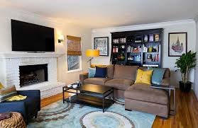 pictures of living rooms with yellow walls. a touch of yellow for the posh, masculine living room [design: designhaus 24 pictures rooms with walls c