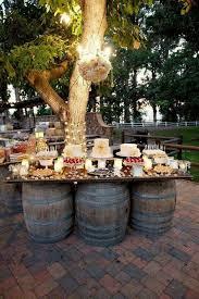 easy rustic wedding ideas wedding outdoor buffet with table garden city al bar height patio