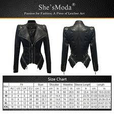 leather jacket size chart faux leather studded motorcycle jackets slim rivets tuxedo coat