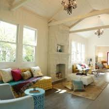 Spacious Living Area With Vaulted Exposed Beam Ceilings