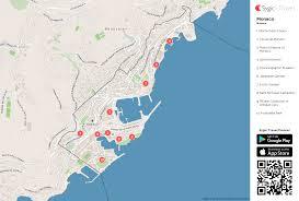 monaco printable tourist map  sygic travel