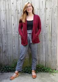 Style Arc Patterns Delectable Style Arc Tully Pants Driftless Cardigan Jessie Stern Sews